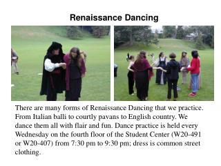 Renaissance Dancing