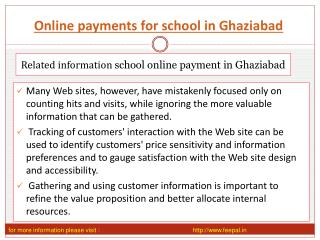 Learn more on an online payment for school in Ghaziabad