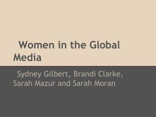 Women in the Global Media