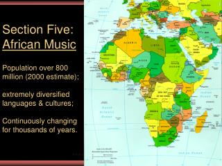 Section Five: African Music