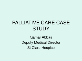 Pain relief in palliative care