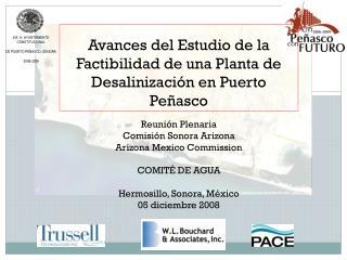 Avances del Estudio de la Factibilidad de una Planta de Desalinización en Puerto Peñasco