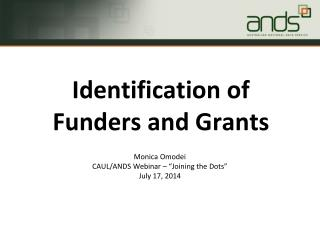 "Monica  Omodei CAUL/ANDS Webinar – ""Joining the Dots"" July 17, 2014"