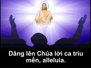 Dâng lên Chúa lời ca trìu mến, alleluia.