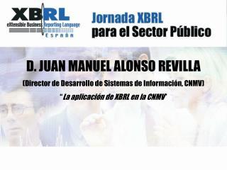 D. JUAN MANUEL ALONSO REVILLA (Director de Desarrollo de Sistemas de Información, CNMV)