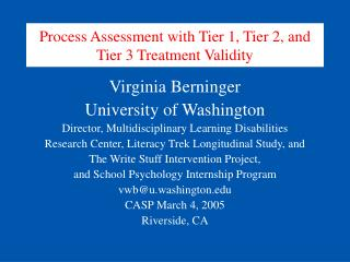 Process Assessment with Tier 1, Tier 2, and Tier 3 Treatment Validity