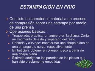 ESTAMPACIÓN EN FRIO