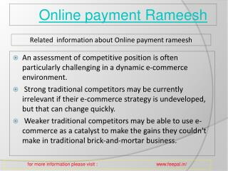 online payment  rameesh facilitates the parents from tension