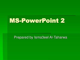 MS-PowerPoint 2