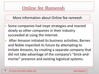 Now you can also pay your online fee rameesh
