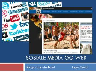 Sosiale media og web