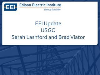 EEI Update USGO Sarah Lashford and Brad Viator