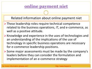 Some of the schools are providing online payment niet