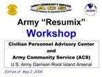 Army  Resumix   Workshop