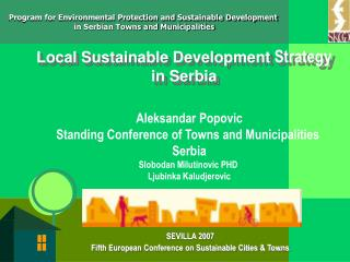 Local Sustainable Development  Strategy  in Serbia