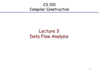 CS 201 Compiler Construction