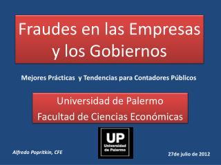 Fraudes en las Empresas y los Gobiernos