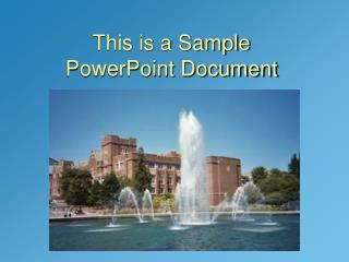 POWERPOINT DOCUMENT
