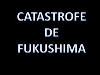 CATASTROFE DE FUKUSHIMA