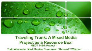 Traveling Trunk: A Mixed Media Project as a Resource Box: