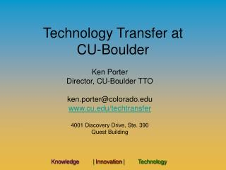 Technology Transfer at  CU-Boulder