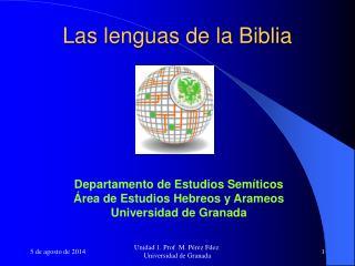 Las lenguas de la Biblia