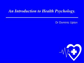 An Introduction to Health Psychology.