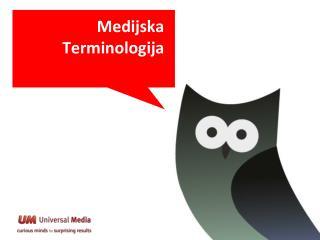 Medijska Terminologija