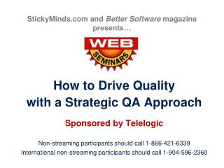 StickyMinds.com and Better Software magazine presents