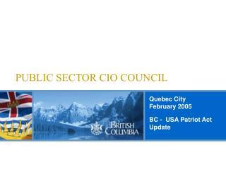 PUBLIC SECTOR CIO COUNCIL