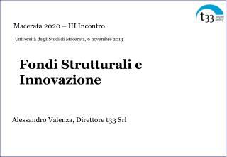 Fondi Strutturali  e  Innovazione