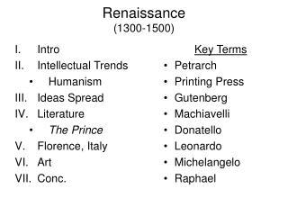 Renaissance 1300-1500