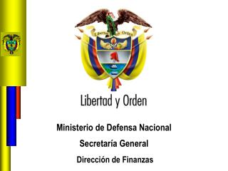 Ministerio de Defensa Nacional  Secretaría General  Dirección de Finanzas