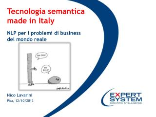 Tecnologia semantica  made  in Italy