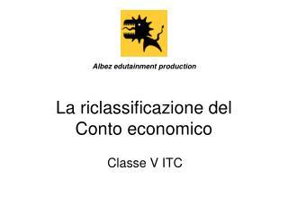 La riclassificazione del  Conto economico