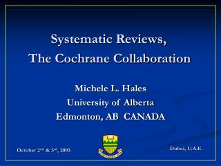Systematic Reviews,