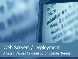 Web Servers / Deployment