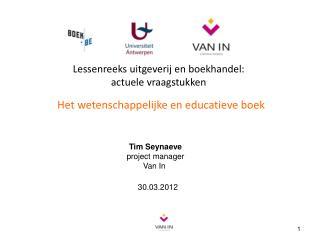 Lessenreeks uitgeverij en boekhandel:   actuele vraagstukken