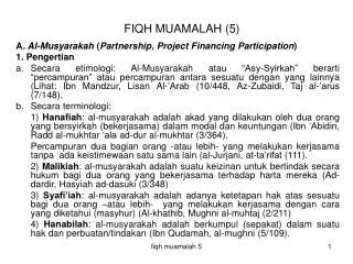 FIQH MUAMALAH (5)