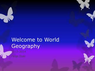 Welcome to World Geography