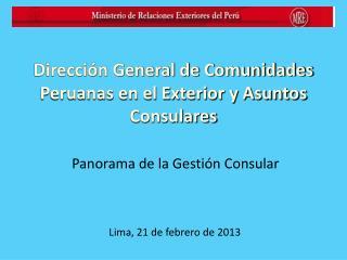Lima, 21 de febrero de 2013