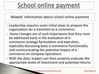 One of The best  school online payment