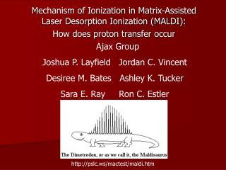 Mechanism of Ionization in Matrix-Assisted Laser Desorption Ionization (MALDI):