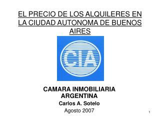 EL PRECIO DE LOS ALQUILERES EN LA CIUDAD AUTONOMA DE BUENOS AIRES
