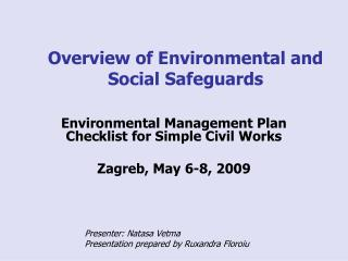 Overview of Environmental and Social Safeguards