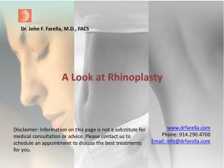 A look at Rhinoplasty