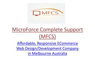 Cheap Web Development Australia - MFCS