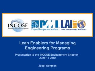 Lean Enablers for Managing Engineering Programs