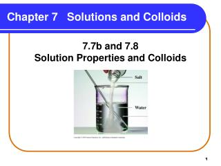 Chapter 7   Solutions and Colloids