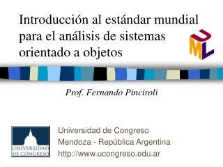 Introducción al estándar mundial para el análisis de sistemas orientado a objetos